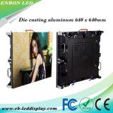 P5 P6.67 P8 P10 умирают литой алюминиевый индикатор видео настенной панели 640*640 мм