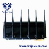 De regelbare 3G4g Stoorzender van de Telefoon van de Cel van de Hoge Macht met Krachtige Antenne 6 (4G LTE + 4G Wimax)