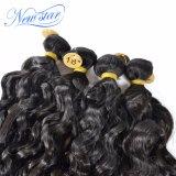 最もよい品質の安い価格のインドの自然な波100%の人間の毛髪の束