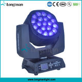 DMX512 19x15W Zoom angular Cabezal movible LED Luz Ojo de la abeja