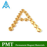 D14*2.5 de Gouden Magneet van de Zeldzame aarde van de Knoop met Magnetisch Materiaal NdFeB