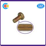 DIN/ANSI/BS/JIS Kohlenstoffstahl/aus rostfreiem Stahl Handtorsion-sechseckiger Querflansch-flache Schraube für Gebäude