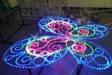 Le motif des étoiles montantes de lumière pour la décoration de la rue avec corde de la lumière et Cadre de fer