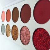 La gamma di colori dell'ombretto lustrata bellezza di 10 colori pigmenta insano 5 opachi e 5 che lo scintillio compone le gamme di colori durature impermeabilizzano