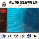 Hoja coloreada del plástico de Sun de la PC de la hoja de la depresión del policarbonato del panal de 8m m