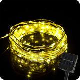 Pwer Solar & LED do sensor de luz de String de fio de cobre