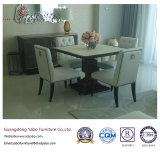 Muebles superiores del restaurante fijados con el vector de madera (7891)