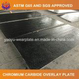 Plaque d'usure de carbure de chrome pour la doublure de cloison de moulin de charbon