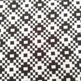 Telas blancos y negros de gama alta del telar jacquar