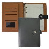 """Жесткий футляр из натуральной кожи Loose-Leaf ноутбук Custom Business Journal""""."""