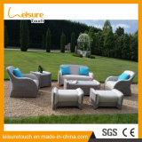 Современный отель для отдыха дома плетеной PU кожаный диван - кровать сокровищ садовая мебель для установки вне помещений