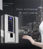 Huella digital/contraseña/Control remoto (opcional) /de la tarjeta de inducción de cuatro en uno de huellas digitales de alta calidad -Control de acceso biométrico de huellas digitales inteligentes la cerradura de puerta de vidrio