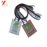 La competencia Custom Premio 3D de la medalla de Deportes de la ejecución de metal con cinta de opciones (YB-M-023)