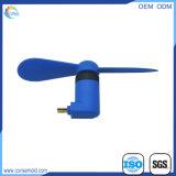 Beweglicher Arbeitsweg kleiner nachladbarer Gleichstrom-Plastikventilator Mini-USB-Ventilator