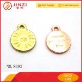Rosen-Goldmetallfirmenzeichen/-anhänger für Handtaschen/Tuch/Armband