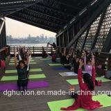 Esteras cómodas antirresbaladizas de la yoga de Eco de la insignia de encargo del certificado del alcance