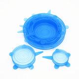 FDA BPA frei Nahrungsmittelgrad-Potenziometer-Filterglocke-Wannen-Glas-Cup-Nahrungsmittelsparer-Silikon-Ausdehnungs-Kappen Amazonas-stellten heiße verkaufenLFGB von 6 ein
