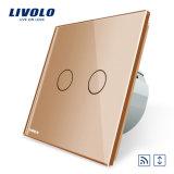 Livolo EU 표준 수정같은 유리 위원회 접촉 먼 커튼 스위치 Vl-C702wr-11/12/13/15