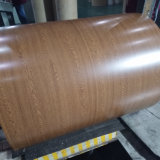 Du grain du bois PPGI Feuille de bobine / bobine d'acier galvanisé prélaqué / PPGI