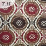Rot und Brown-Kreischenille-Jacquardwebstuhl-Gewebe für Stuhl und Möbel