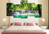HD druckte grünes tropisches Wasserfall-Malleinwand-Druck-Raum-Dekor-Druck-Plakat-Abbildung-Segeltuch Mc-033