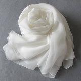 Natuurlijk Wit voor het Schilderen DIY de Lange Sjaal van de Chiffon van de Zijde