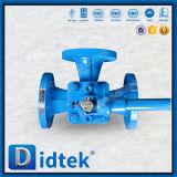 Didtek 100% Prüfungs-Hebel betrieb die 3 Möglichkeits-Hülsen-Stecker-Ventil