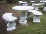 庭の装飾のための屋外の石造りの花こう岩の動物のベンチ