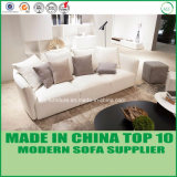 Luxury Loveseats Modular Leather Latex Wooden Couch Corner