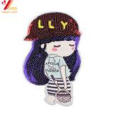 Corrección del Applique del cequi de la muchacha de los accesorios de la ropa de la alta calidad para la chaqueta o el sombrero