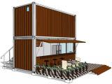 2 verenigt 20FT de Modulaire Koffiebar van de Container