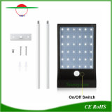 Alto brillo LED 36 Sensor de movimiento de pared de luz solar para jardín