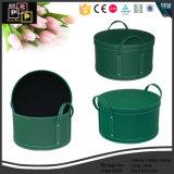 Горячая продажа цилиндрических Маленький ящик для хранения из натуральной кожи (2208)