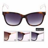 Óculos de sol conservados em estoque prontos fêmeas da forma com lentes do inclinação (HFF0033)