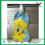 Impression couleur en plastique bon marché sans BPA bouteille d'eau de pliage