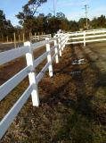 Alta qualità rete fissa bianca del cavallo del vinile delle 2 rotaie, delle 3 rotaie e delle 4 rotaie, rete fissa del cavallo