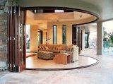 Residenitial curvo de aluminio puerta deslizante