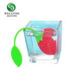 Filtro portatile dal tè di figura della fragola di Infuser del tè del silicone