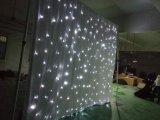 結婚式の装飾の白色光および白い布LEDの星のカーテン