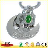Qualitäts-spezieller Form-Metallzink-Legierungs-Schlüssel-Halter und Schlüsselkette mit Gold-und Splitter-Überzug