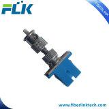 Sc/LC/FC/St/Mu/MTRJ/MPO a una cara/duplex/patio unimodal/hembra Multimode/Om3/Om4 al adaptador óptico híbrido masculino de fibra