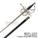 La spada Commanding spagnola Rapiercombat medioevale ha scopato la spada 110cm HK5919 dell'elsa