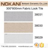 mattonelle di ceramica di sembrare del tessuto del getto di inchiostro di 300*800mm per le mattonelle della parete