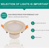 2.5inches 금 색깔 LED Downlight /Illuminant/Optical 근원 센서 Downlamp