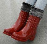 Женщин PVC датчик дождя и освещенности загружается, дамы, Датчик дождя ботинки, популярные загрузки в стиле новой моды женщин Boot