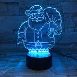 Spreker Bluetooth van het Scherm van de Aanraking van de Lichten van de Spreker van de Kerstman van Kerstmis de Audio Kleurrijke Draadloze