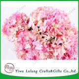 Las flores de seda rosa artificial tallo Hortensias para decoración interior
