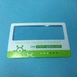 Подгонянный увеличитель объектива карманного размера карточки размера пластичный