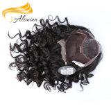 Pelucas indias del frente del cordón del pelo de la Virgen caliente de la venta de Alimina