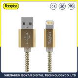 Lampo del telefono mobile che carica il cavo di dati del USB